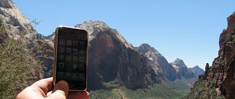 Photo of the Week: iPhone at Zion National Park