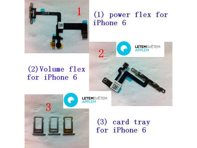 iPhone 6 part leaks point to possible color variations