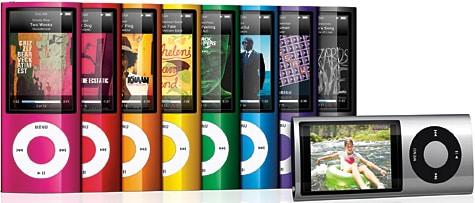 iPod nano 5G gains larger screen, video camera, FM radio
