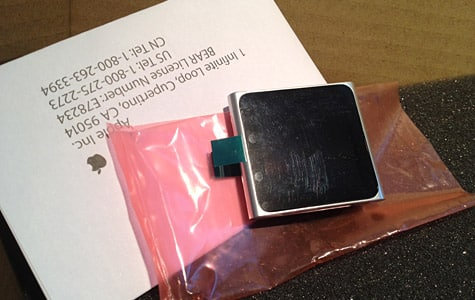 Apple starts shipping iPod nano 6G units as 1G replacements