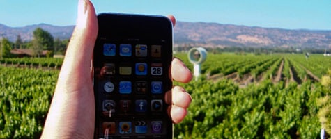 Photo of the Week: iPod touch in Napa Valley