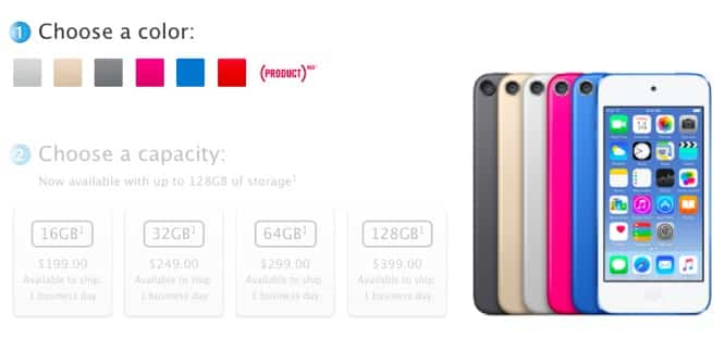 Apple unveils new iPod touch, new nano and shuffle colors