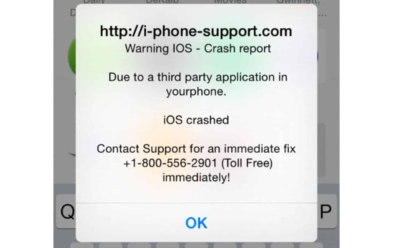 New iOS scam surfaces as crash warnings in Safari browser popups