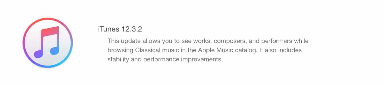 Apple releases iTunes 12.3.2