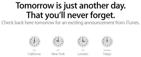 Apple teases iTunes announcement, coming tomorrow at 10 am ET/7 am PT