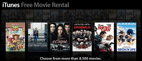 Apple sending out free iTunes Movie Rental codes?