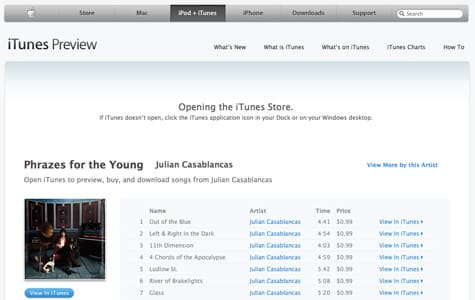 Apple launches in-browser iTunes Preview