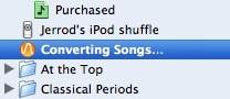 iTunes Converting Status in Sidebar