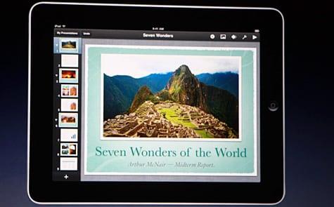 Apple debuts iWork for iPad tablet
