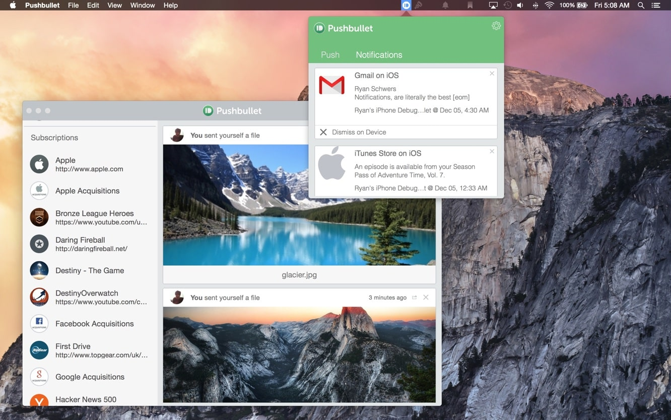 Pushbullet for Mac