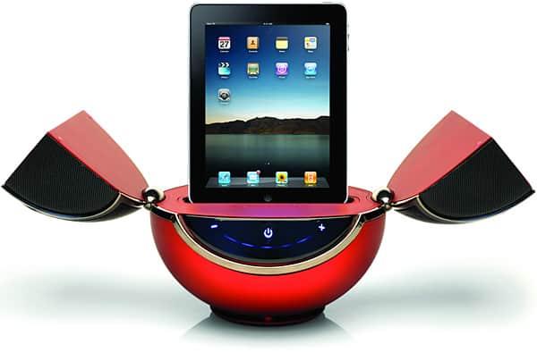 Vestalife debuts first iPad speaker system, revised Mantis
