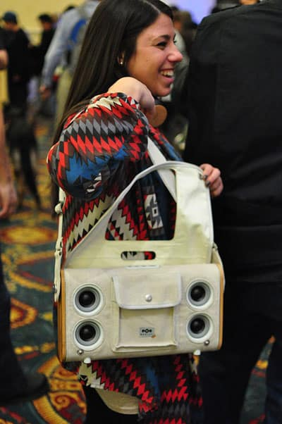 House of Marley at 2012 CES: Bluetooth speaker bags, One Foundation