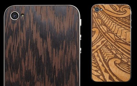 MaterialSix offers wooden back plates for iPhone 4/4S