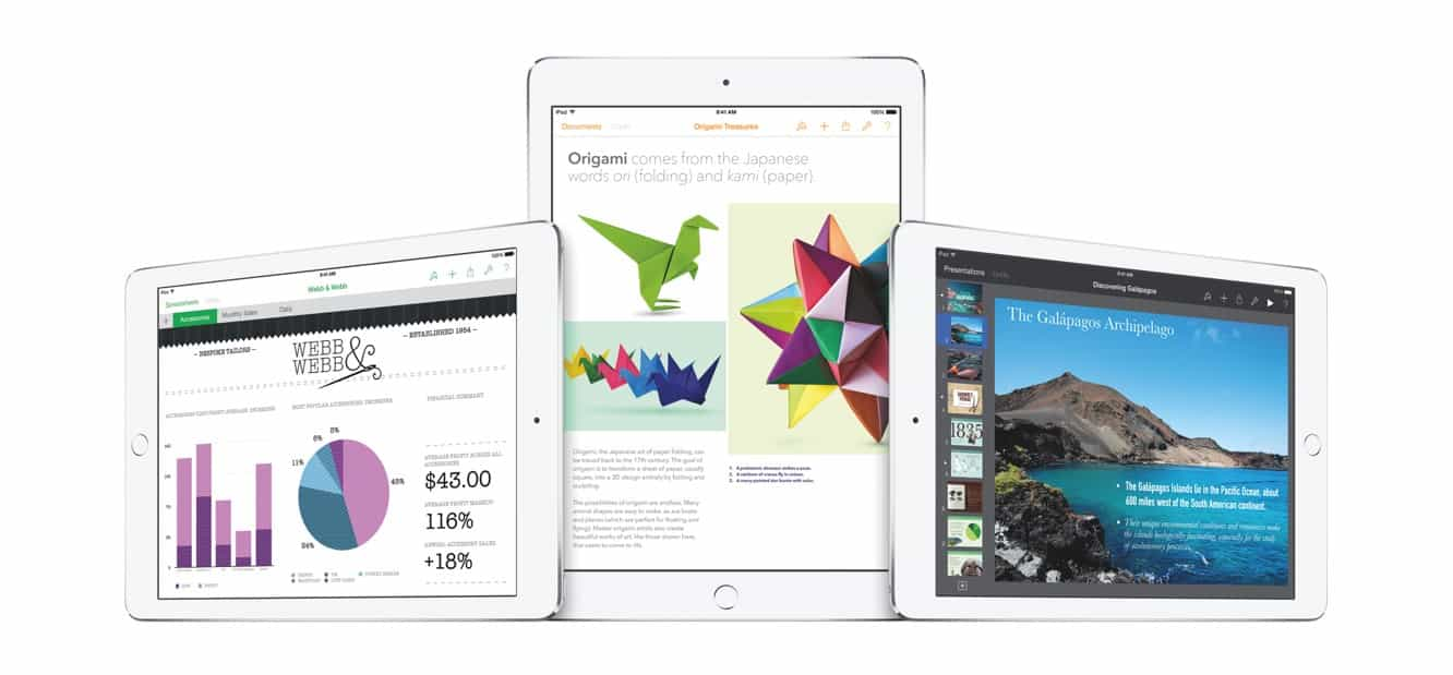 Apple updates Pages, Numbers, Keynote with iOS 9 + 3D Touch features