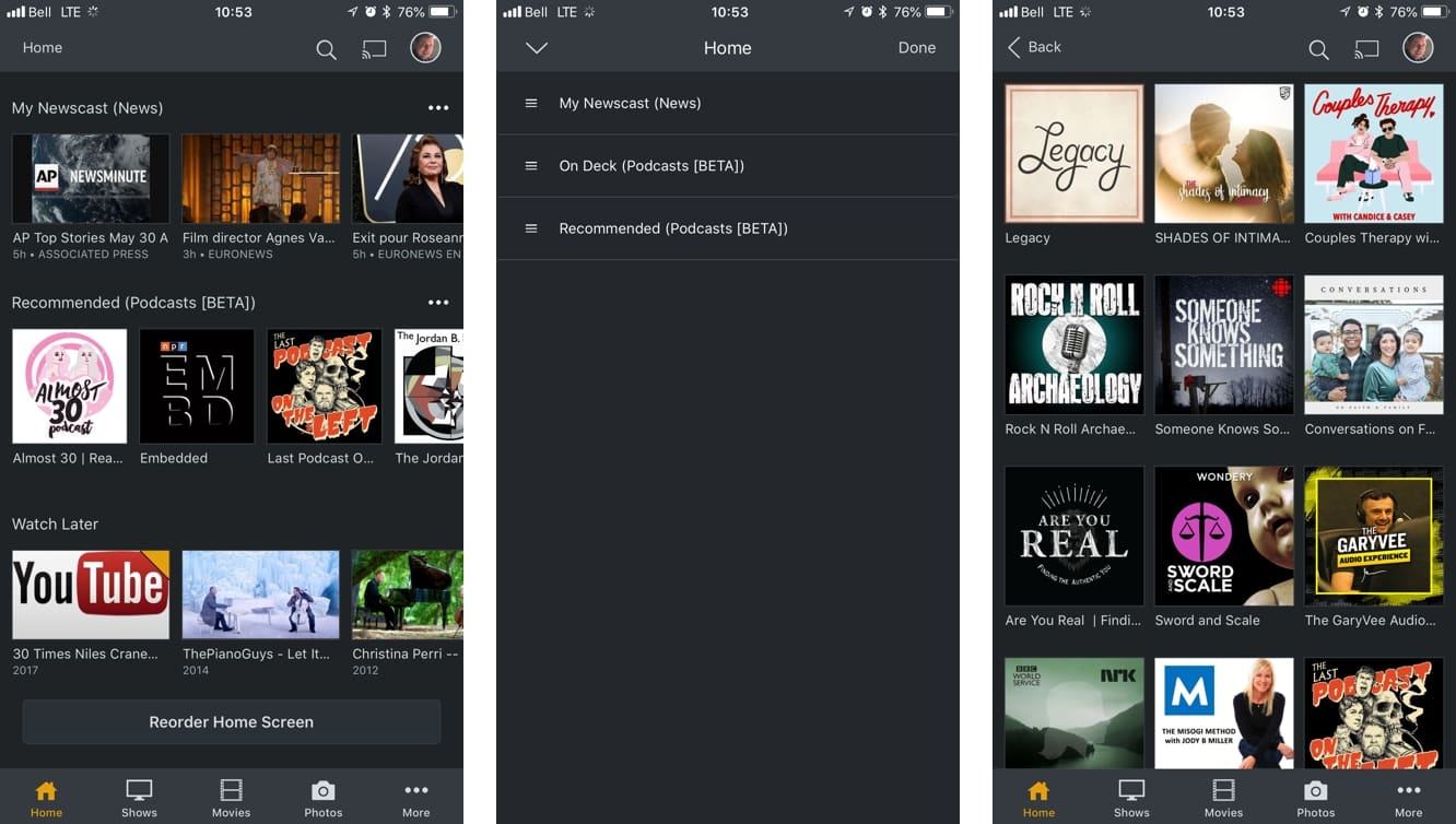 Plex adds Podcasts and a major revamp to its apps