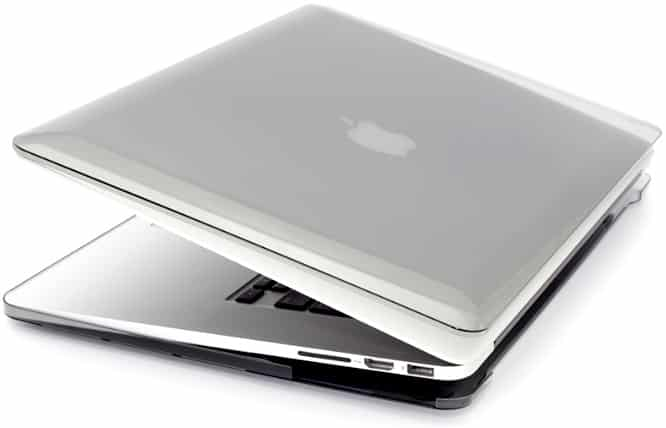 Power Support Air Jacket Clear Black for MacBook Pro