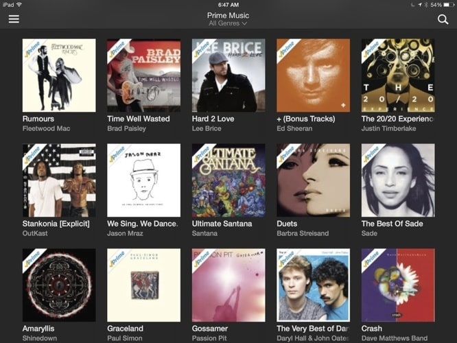Amazon intros streaming Prime Music with iOS app