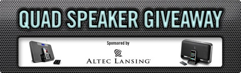 Last chance to enter our Quad Speaker Giveaway
