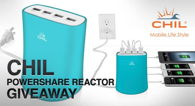 CHIL Powershare Reactor Giveaway - Winners Announced