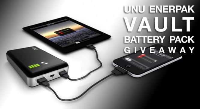 Unu Enerpak Vault Battery Pack Giveaway – Winners Announced
