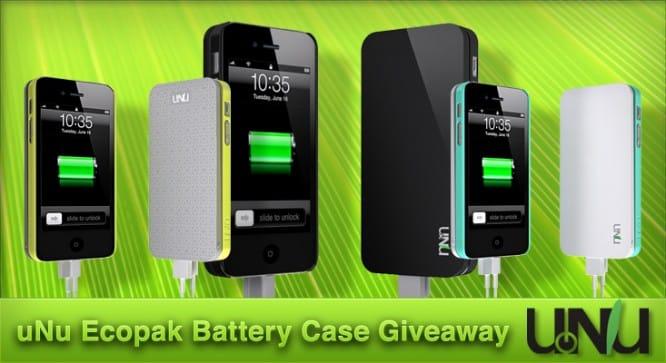 uNu Ecopak Battery Case Giveaway – Winners Announced