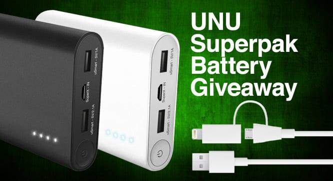 Unu Superpak Battery Giveaway - Winners Announced
