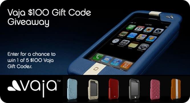 Vaja $100 Gift Code Giveaway – Winners Announced