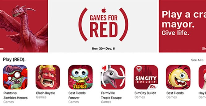 Apple adds four new items to (PRODUCT)RED lineup, games get custom content for World AIDS Day