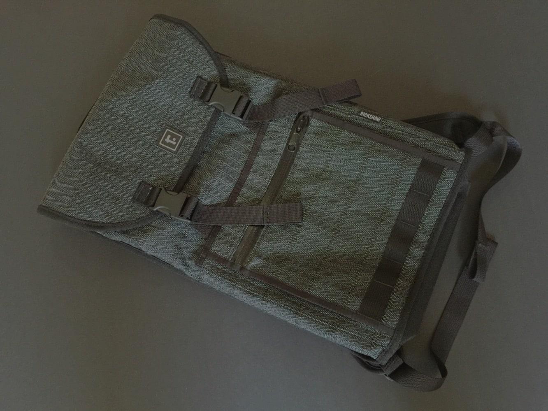 Rickshaw Bagworks Reflective Tweed Sutro Backpack + Zero Messenger Bag