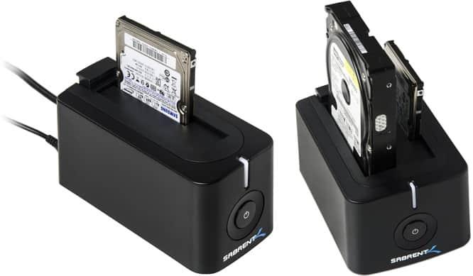 Sabrent DC-BLK + EC-HDD2 Hard Drive Docking Stations