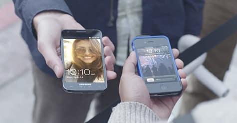 Samsung parodies iPhone lineups in new Galaxy ad
