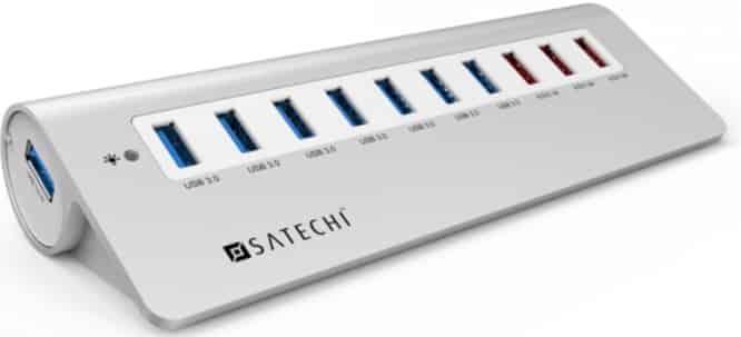 Satechi 10 Port USB 3.0 Premium Aluminum Hub