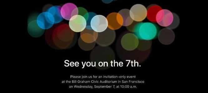 Apple announces Sept. 7 event