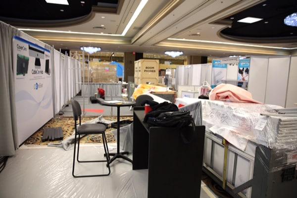 iLounge Pavilion Pre-Show Setup Photos, LVH
