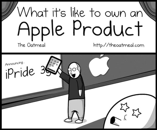 """The Oatmeal """"What It's Like to Own an Apple Product"""" Signed Print"""