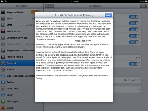 Siri dictation for iPad referenced in iOS 5.1 beta 3