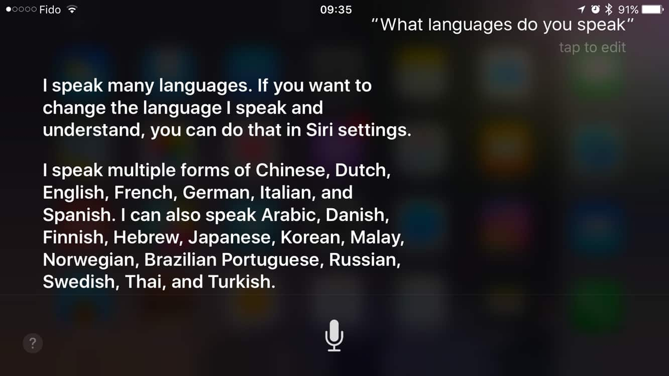 Siri leads voice assistants in language support