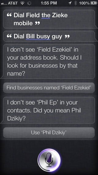 Helping Siri recognize difficult names