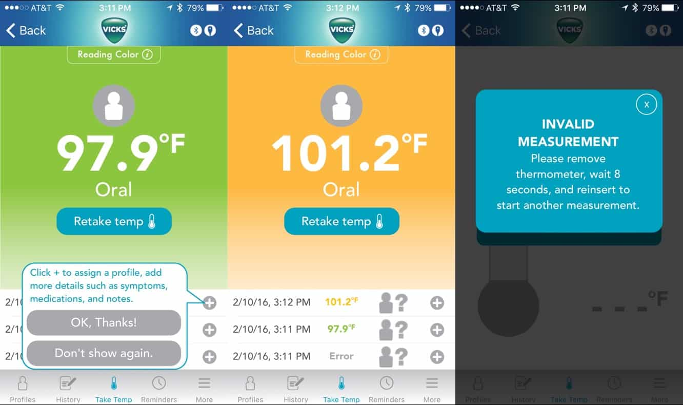Review: Vicks SmartTemp Wireless Smartphone Thermometer