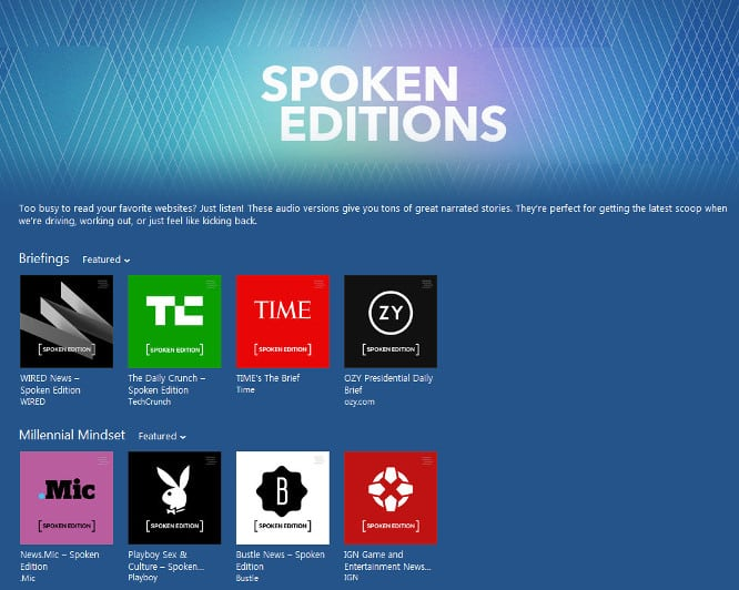 Apple launches Spoken Editions of popular websites