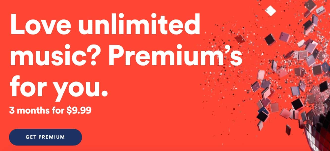 Spotify trying to woo back former Premium subscribers with special offer of $9.99 for three months