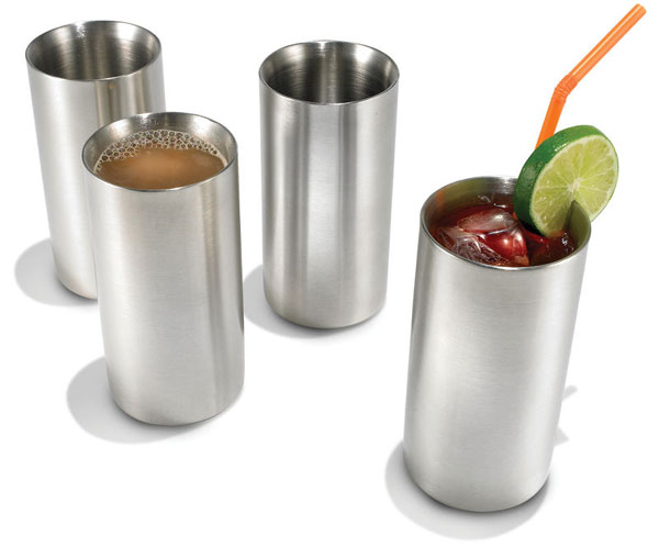 Hammacher Schlemmer Cold Maintaining Stainless Steel Drinkware