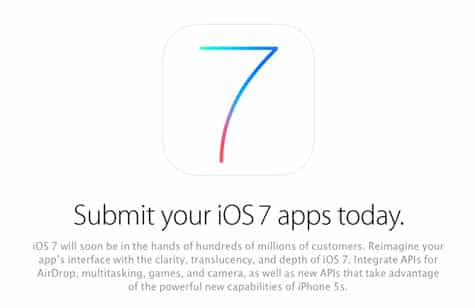 Apple now accepting iOS 7 app submissions