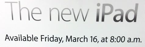 Apple to launch third-gen iPad Friday at 8:00 am