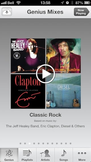 Downloading Genius Mixes from iTunes Match