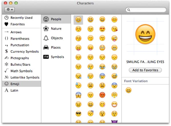 Using Emoji in Messages on OS X