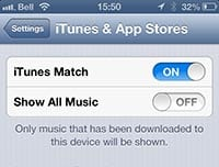 Showing only on-device iTunes Match tracks