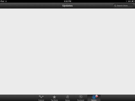 Dealing with a blank updates screen in App Store