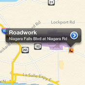 Displaying traffic info in Apple Maps