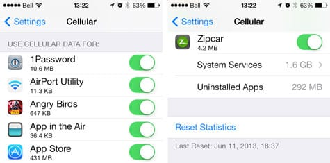 iOS 7: Monitoring and Controlling Cellular Data Use